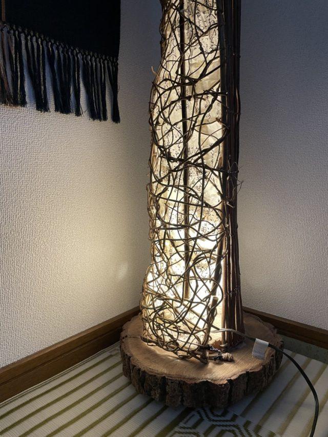 ランプ作りも趣味の一つです。
